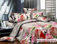 Комплект постельного белья 2-спальный Розы и Лебеди