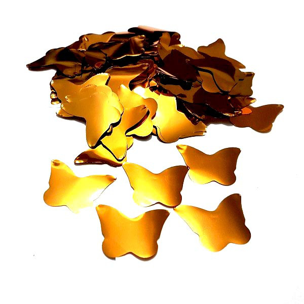 Конфетти бабочки золотые. Вес:50гр.