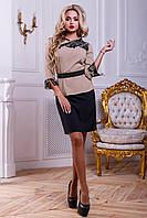 Красивый классический костюм юбка и жакет 42-48 размера, фото 1
