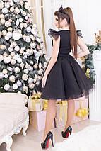"""Нарядное приталенное мини-платье """"RALLEN"""" с пышной фатиновой юбкой, фото 2"""