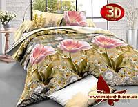 Комплект постельного белья 2-спальный евро Полевые цветы