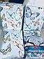Семейный  комплект постельного белья из полисатина Небесные бабочки, фото 2