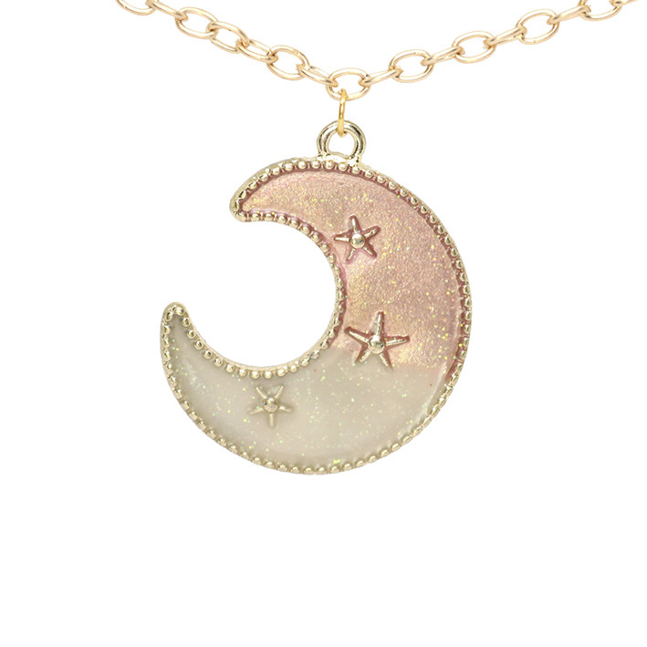 Подвеска кулон полумесяц луна в цвете эмаль