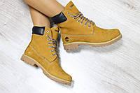 Зимние натуральные кожаные ботинки Timberland  38