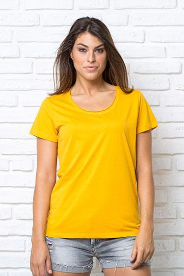Женская футболка с круглым необработанным вырезом JHK PALMA