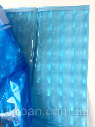 Синяя шторка для ванной 3D голограмма 180х180см, фото 2