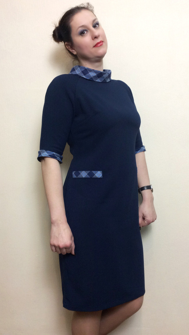 Платье футляр с хомутом