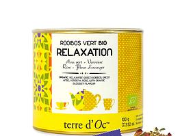 Органічний зелений чай Ройбуш для релаксації,100г , Terre d'oc