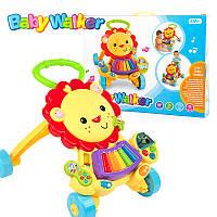 Каталка-ходунки Львёнок Baby Walker 2in1 869-52 игровой центр
