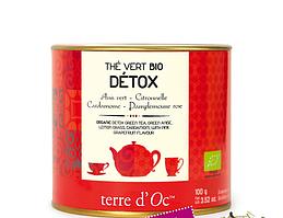 """Органічний зелений чай """"Детокс"""",100г , Terre d'oc"""