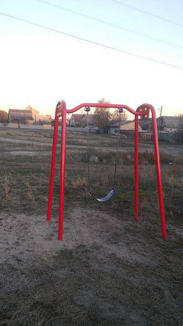 Детские качели одинарные на цепях, фото 2