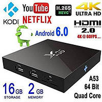 Смарт Приставка ТВ приставка  X96 2гб/16гб 4 ядра Amlogic S905X / Smart Tv Box Android 6.0, UltraHD 4K, фото 1