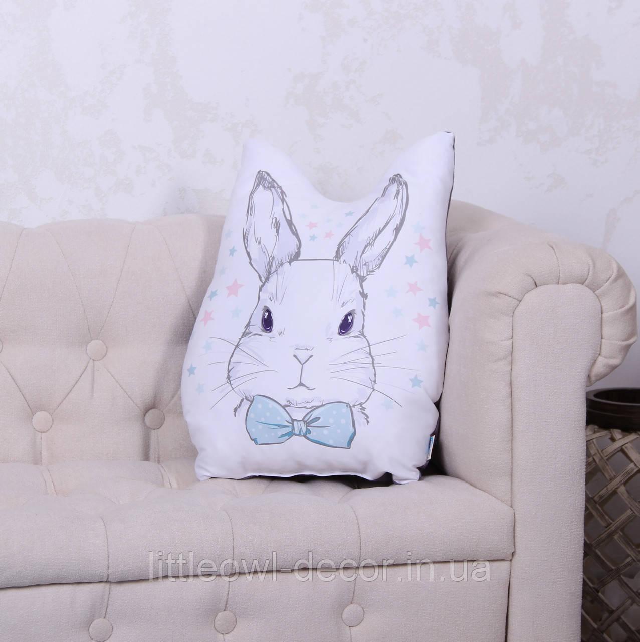 Подушка с рисунком Зайчик