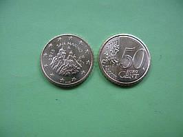 Сан Марино 50 евро центов 2015 г. UNC.