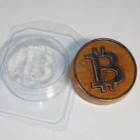 Пластиковая форма для мыла биткоин