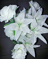 Букет Роза Лилия 24головок 65 см, фото 1