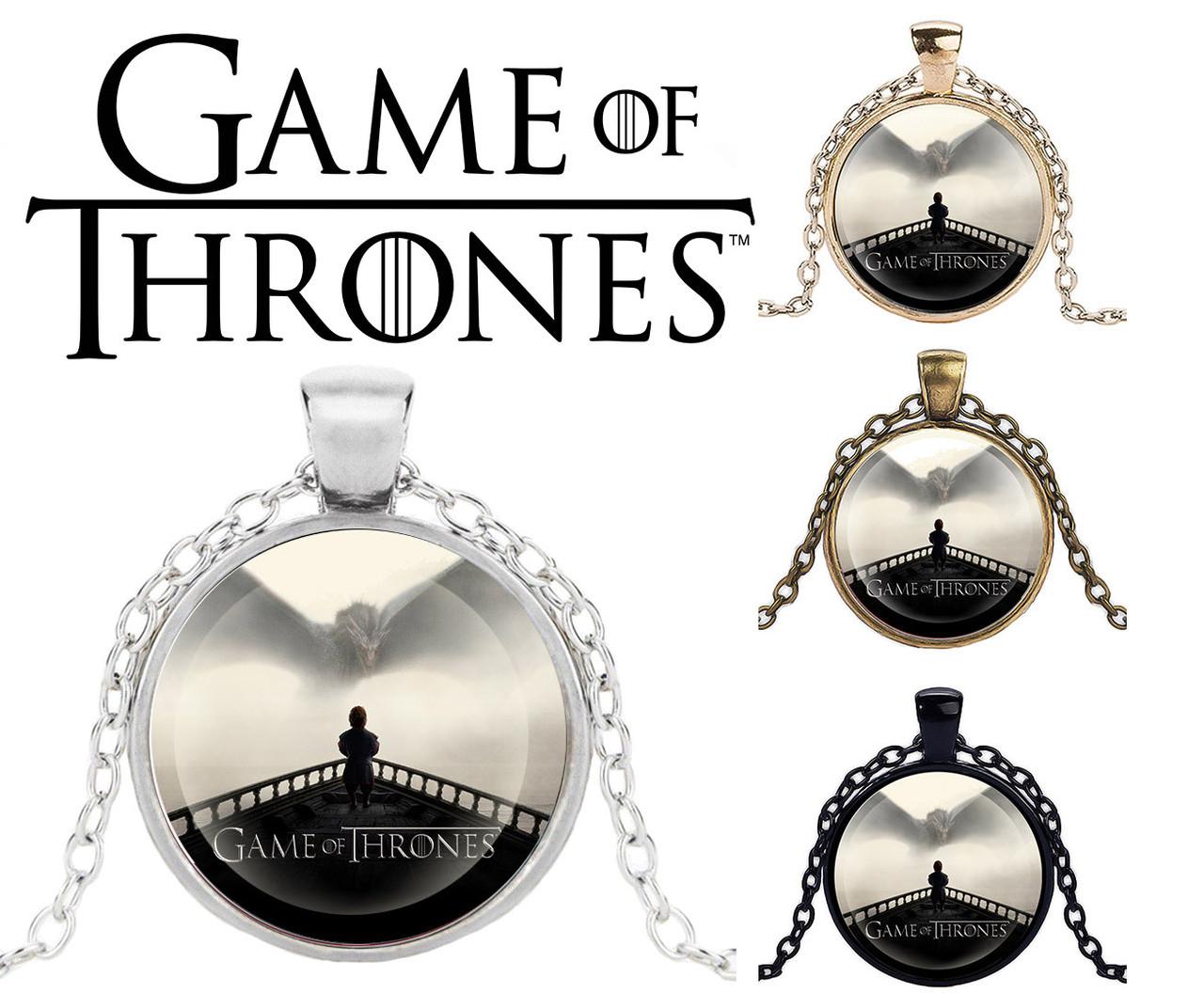 Подвеска стеклянная Game of Thrones Игра Престолов панорамный Тирион Ланнистер