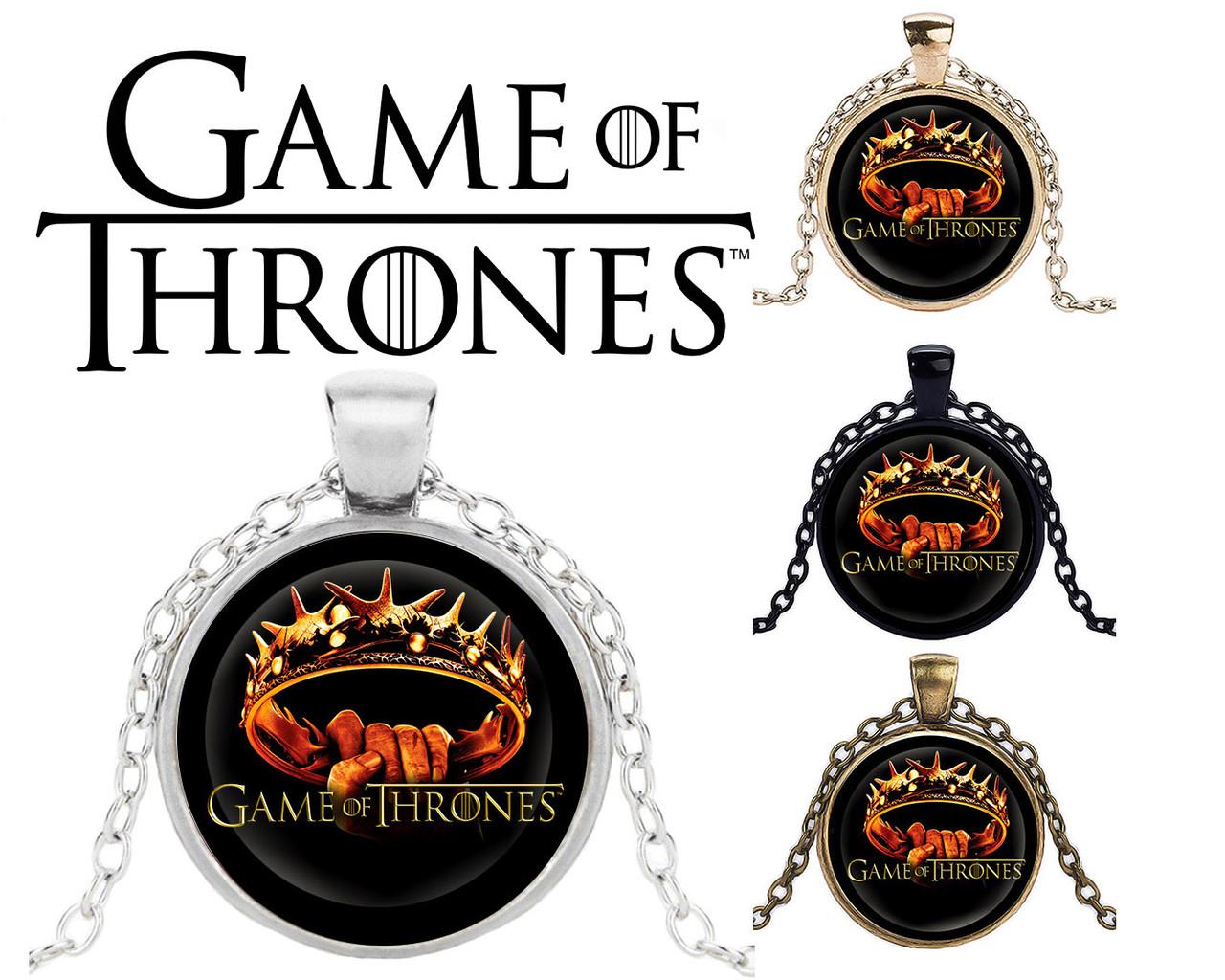 Подвеска стеклянная Game of Thrones Игра Престолов Корона