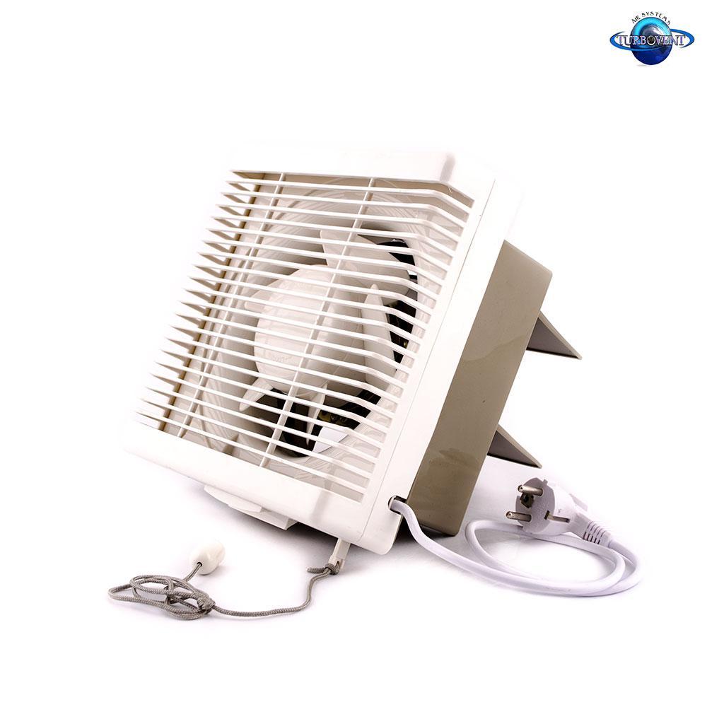 Осьовий витяжний віконний (форточный) вентилятор Турбовент АРВ 15-3-I