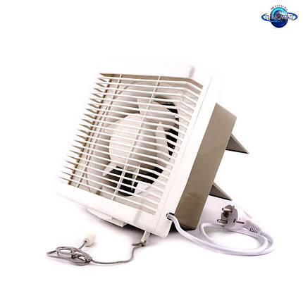 Осевой вытяжной оконный (форточный) вентилятор Турбовент АРВ 15-3-I, фото 2