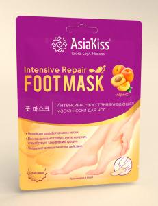 """""""Абрикос""""интенсивно-восстанавливающая маска-носки для ног -смягчает,разглаживает и восстанавл, фото 2"""