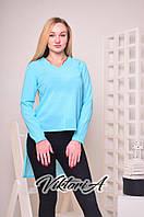 Женская шифоновая блуза с ассиметричным низом, в расцветках
