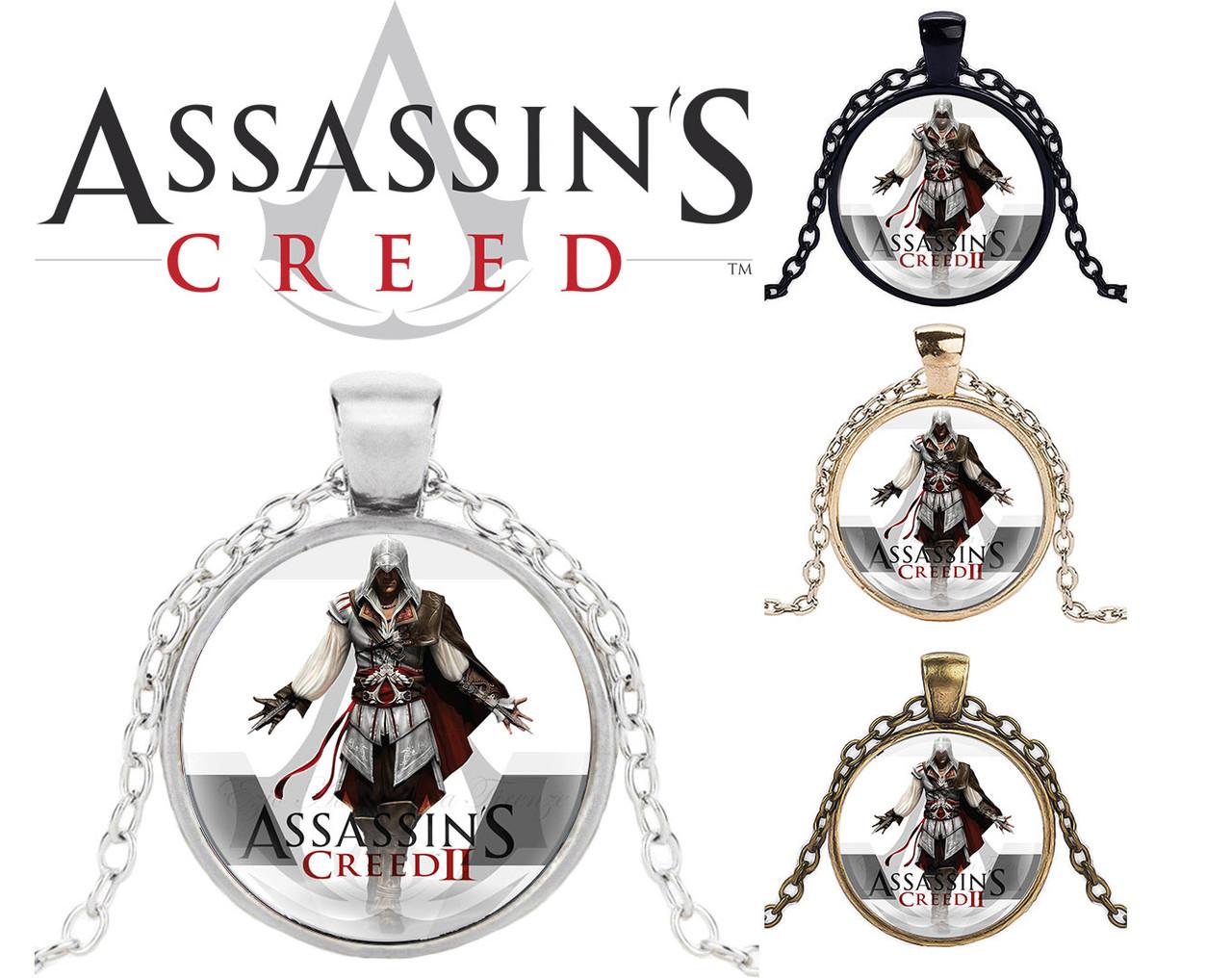 Кулон кредо Ассасина Assassin's Creed Кредо Ассасина Дезмонда Майлса и логотипом