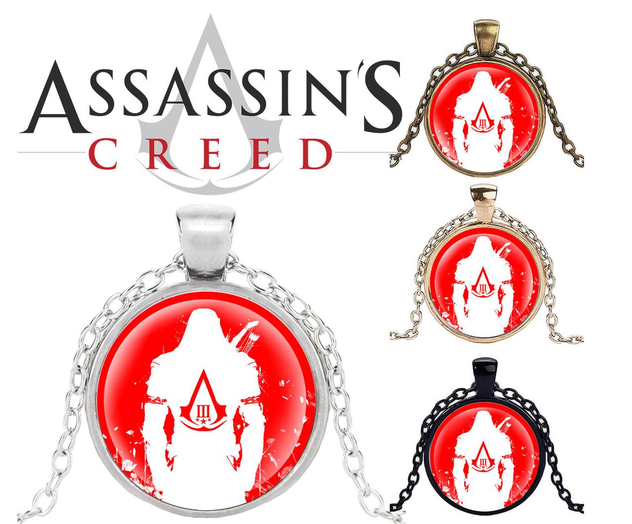 Кулон Assassin's Creed Кредо Ассасина Красный