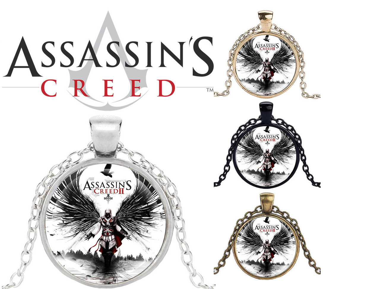Подвеска стеклянная Assassin's Creed Кредо Ассасина