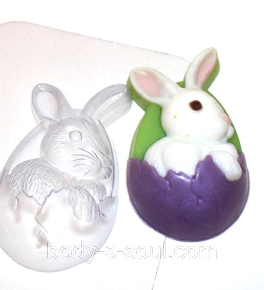 Пластиковая форма для мыла кролик пасхальный