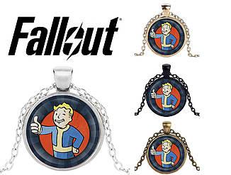 Подвеска стеклянная Fallout Волт Бой Vault Boy