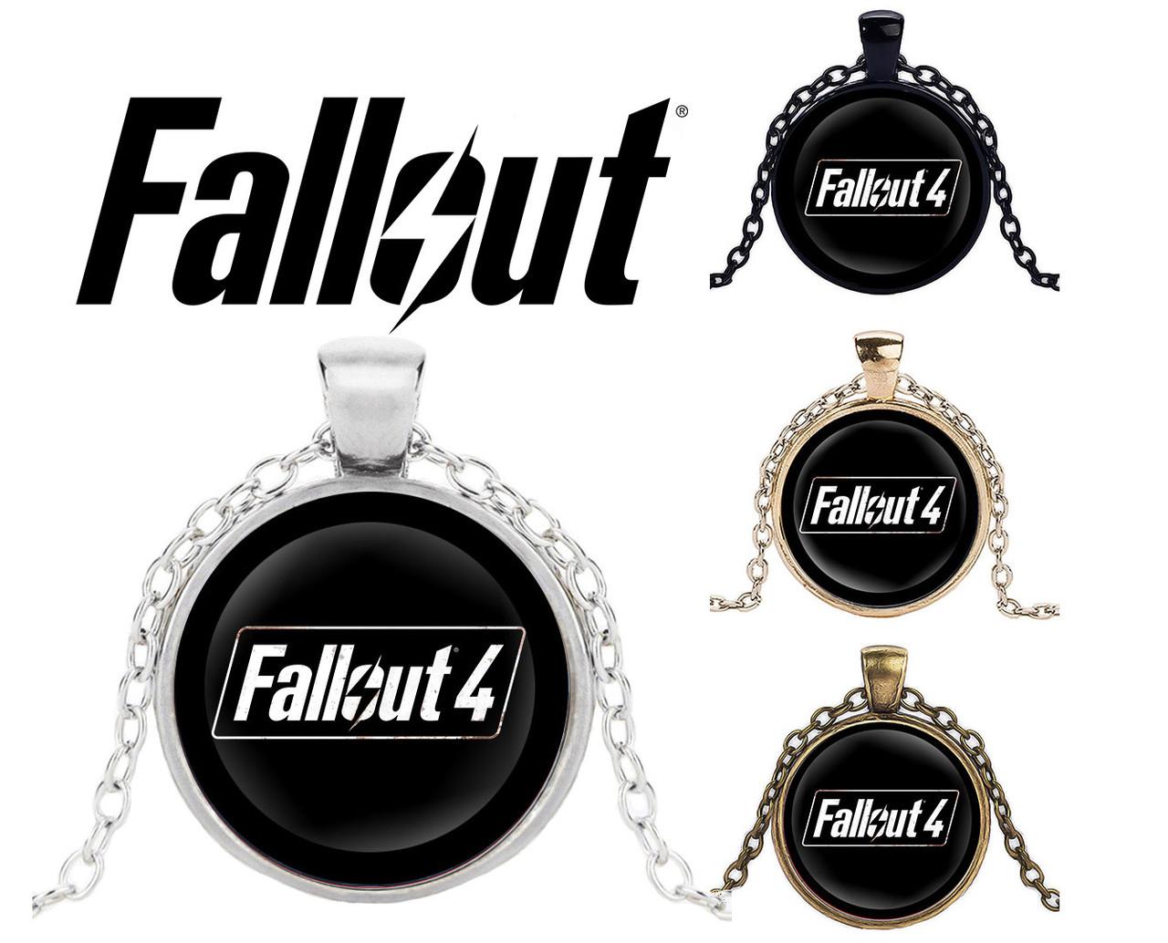 Подвеска стеклянная Fallout с логотипом