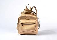 Рюкзак женский из качественного кожзама золото 3Д, фото 1