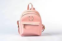 Рюкзак женский из качественного кожзама розовый матовый, фото 1