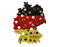 Карта Германии цветная CAPSBOARD GERMANY COLORED с подставками 38 отверстий
