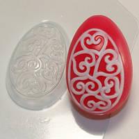 Пластиковая форма для мыла яйцо орнамент сердечки-завитушки
