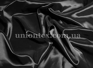 Подкладочная ткань нейлон стрейч диагональ черная (Италия)