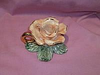 Роза подсвечник статуэтка фарфорова 8см высота, фото 1