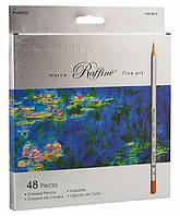 Набор цветных карандашей Marco Raffine,48 цветов шестигранные 7100-48СВ