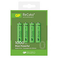 Аккумуляторы GP Batteries AAA  (R03) 1000mAh NiMh 4шт ReCyko+ (GP100AAAHCE-2GBE4),1.2V