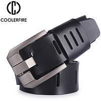 Ремень мужской кожаный COOLERFIRE модель 2 (черный)
