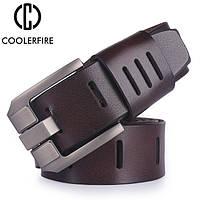 Ремень мужской кожаный COOLERFIRE модель 2 (коричневый), фото 1