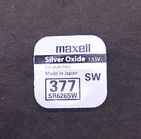 Батарейка Maxell Silver Oxide 1.55v 377 (SR626SW)