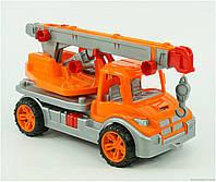 Машина Автокран 3695 4 цвет оранжевый ТЕХНОК   , фото 1