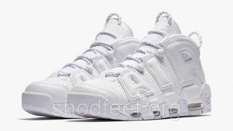 Мужские кроссовки Nike Air More Uptempo Triple White 921948-100