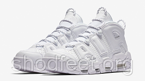 Подростковые кроссовки Nike Air More Uptempo Triple White 921948-100