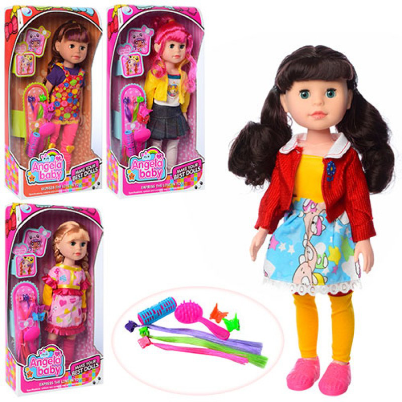 Кукла 1401N 31см, аксессуары для волос, 4 вида, в кор-ке, 18-35-7,5см