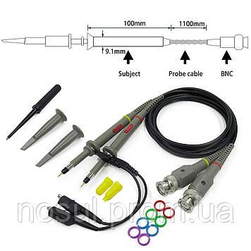 P6100 щуп 2шт пробник зонд 100МГц для осциллографа, 600 В, 1x/10x