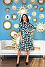 Романтическое атласное платье миди с клешенной юбкой в ретро стиле, фото 2