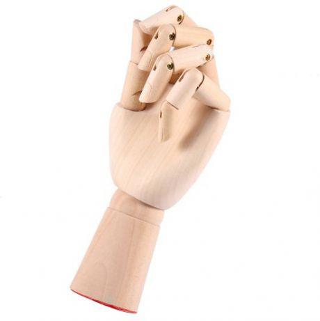 Деревянная рука манекен 29см модель для держания товара, для рисования (мужская)